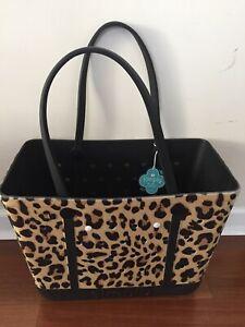 Simply Southern Simply Tote Leopard Animal Print Beach Diaper School Book Bag