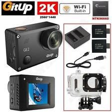 """Gitup Git2 Pro 1.5""""LCD WiFi 2K Sports Action Camera+Dual Charger+Extra Battery"""