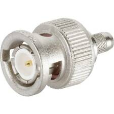 TELEGARTNER Connecteurs coaxiaux mâle droit BNC pour câble RG223 - J01000A1256
