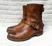 Frye Women's Brown Engineer Motorcycle Leather Boots MADE IN MEXICO SIZE 8.5 B