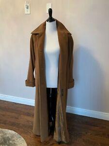 NWOT CINZIA ROCCA Long Alpaca Blend Brown Coat Made in Italy SZ IT 42/US 6