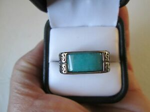 Mens Amazonite Stainless Steel Ring (Size 12) TGW 4.30 cts.