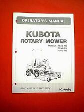 KUBOTA TRACTOR MOWER DECK MODELS RC48 - F19 RC54 - F19 RC60 - F19 OWNER'S MANUAL