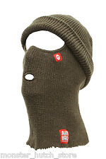 NEW W/ TAGS Airhole Unisex B2 BEANIECLAVA AIRWOOL FACEMASK ARMY LIMITED HUNTING