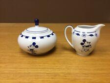 Rare Guy Degrenne Mickey Mouse porcelaine Creamer & Sugar Bowl Set - Disney
