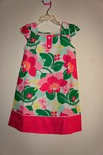 GYMBOREE Pink Floral Girl Dress 4-5 Years Old Size:5T