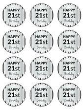 "21ST BIRTHDAY KOPYKAKE 2"" CUPCAKE EDIBLE ICING IMAGE TOPPERS (12) #11"