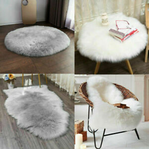 Luxury Fluffy Sheepskin Rug Soft Faux Fur Pad Mat Carpet Seat Cover Cushion Gift