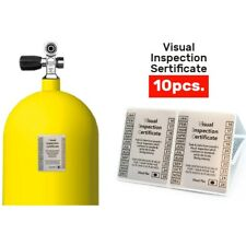 Scuba Diving Visual Inspection Stickers For Dive Cylinders 10 pcs Certificate