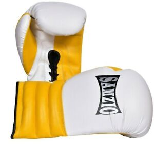 Leather Sparring Boxing Gloves Lace Up Boxing Gloves with Laces by Samzio®