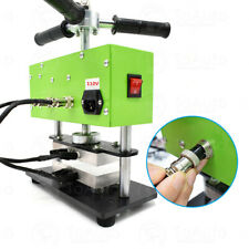 "Manual handwheel heat press machine with Dual heating plate 2 Ton 2.4""x4.7"""