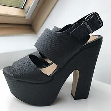 Office Black Platform High Heels Size 36 / UK 3