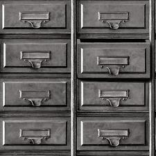 Holden Vintage Drawers Wallpaper Retro Office Cabinet Motif Faux Effect 11971