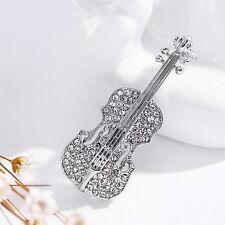 Brosche, Tuchhalter, Taschenclip, Anstecknadel, Geige, Violine, (H3025)