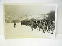 1944 WWII GI Army Marching Infantry Photograph Photo