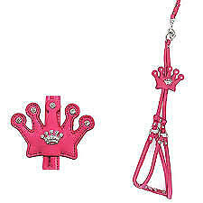 Crown Step-In Dog Harness by Cha-Cha Couture - Hot Pink Large Pink
