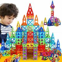 110 Piece Magnetic Tiles Magnetic Building Blocks with Wheels-Toys for Kids Gift