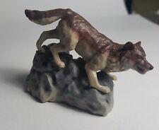 Japan Wolf Wolves pvc mini figure figurine model Brown