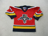 VINTAGE CCM Florida Panthers Hockey Jersey Youth Medium Red SEWN Kids Boys A11*