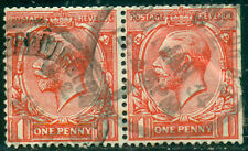Great Britain Sg-419a, Scott # 188a Pair, Used, Wm Sw, Fine, Great Price!