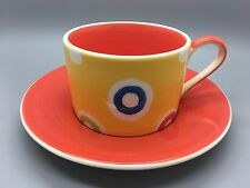 Whittard of Chelsea Pottery ring design coffee cup and saucer