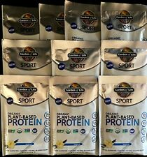 GARDEN OF LIFE ORGANIC 'PLANT BASED PROTEIN PACKETS / VANILLA /10 PACKETS /30 gr