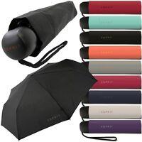 ESPRIT Damen, Herren, Regenschirm, Teleskop, Taschenschirm, Mini-Kurz-Schirm NEU