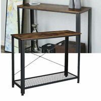 Console Table Storage Shelf Metal Frame Entryway Hallway Display Table Furniture