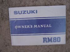1981 Suzuki RM80 Motorcycle Owner Manual MORE CYCLE ITEMS IN OUR STORE  S