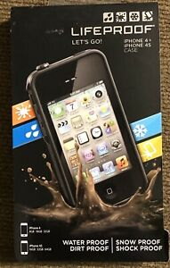 LIFEPROOF BLACK CASE FOR IPHONE 4+ & 4S - 8GB 16GB 32GB