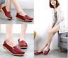 Womens Leather Shoes Loafers Driving Peas Walking Moccasin Flat Casual Shoes