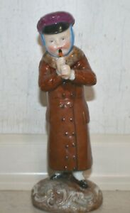 Antique Boy Figurine playing pipe - Anchor Marked - possibly Chelsea? Ex. Cond