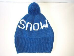 SNOW Beanie from TARGET Bright Blue Pom Pom XHILARATION Women's One Size NEW