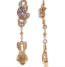 Mawi London Rose Gold Rabbit Drop Earrings