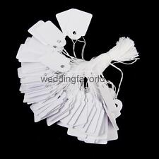 500pcs White Strung String Tickets PRICING TAGS Tie on Jewelry Labels