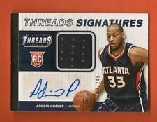ADREIAN PAYNE - 2014-15 Panini Threads Signatures Jersey #d/249 RC Auto - Hawks