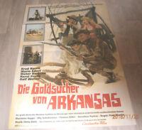 A1 Filmplakat  DIE GOLDSUCHER VON ARKANSAS , BRAD HARRIS,MARIO ADORF,HORST FRANK