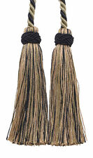 "Taupe Black 4"" Double Tassel Tieback Midnight Meadow [Invidual]"