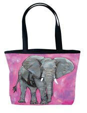 Elephant Handbag Tote Bag-  From My Painting,Kelly-Support Wildlife Conservation