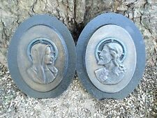 "Jesus & Mary wall plaque plastic molds reusable casting moulds 7"" x 5"" x 1/3"""