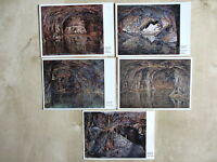 SAALFELD Saale Postkarten Lot Feengrotte Grotte Höhle 5x Ansichtskarte DDR