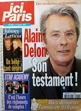 Mag 2002: ALAIN DELON_GILBERT BECAUD_LAURENT VOULZY_ANNY DUPEREY_HUGUES AUFRAY