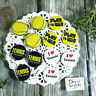 """12 Tennis Pins * 1 1/4"""" PINBACK Buttons Fun Team Party Favors USA NEW DecoWords"""