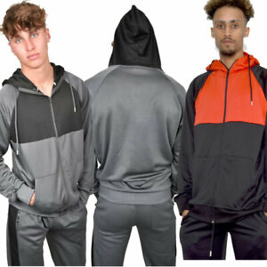 JYO Mens Red and Grey  Colour Block Tracksuit (TS2448)