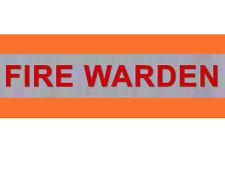 "XL Hi Visibility Reflective Orange Armband Printed FIRE WARDEN 20"" x 5"""