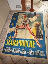 MANIFESTO  SCARAMOUCHE 1953 STEWART GRANGER FERRER ELEANOR PARKER JANET LEIGH