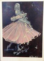 Vintage Russian postcard for sale 1963 Galina Ulanova Russian ballet postcard