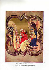 AMY STEEDMAN PLATE - THE VISIT OF THE MAGI - GIOTTO-  ITALIAN ART - 1916 KNIGHTS