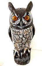 Vintage Halloween Owl Blow Mold 1990 Dalen Products Plastic Garden Decoy