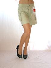 Womens Vtg 90s One One Beige Casual Shorts Pants Custom Embellish sz S/M AE64